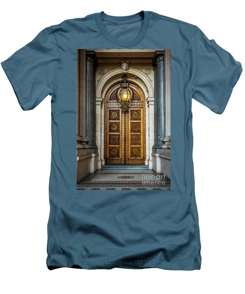 Men's T-Shirt (Slim Fit) featuring the photograph The Big Doors by Perry Webster