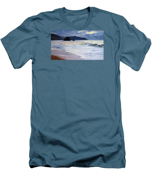 The Black Rock Widemouth Bay Men's T-Shirt (Athletic Fit)