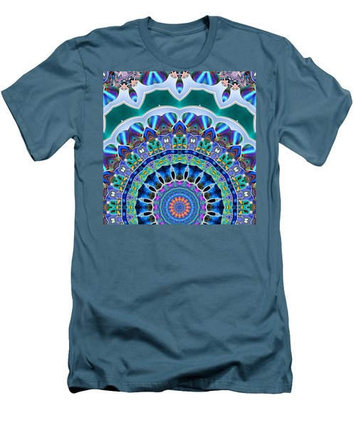 Men's T-Shirt (Slim Fit) featuring the digital art The Blue Collective 03b by Wendy J St Christopher