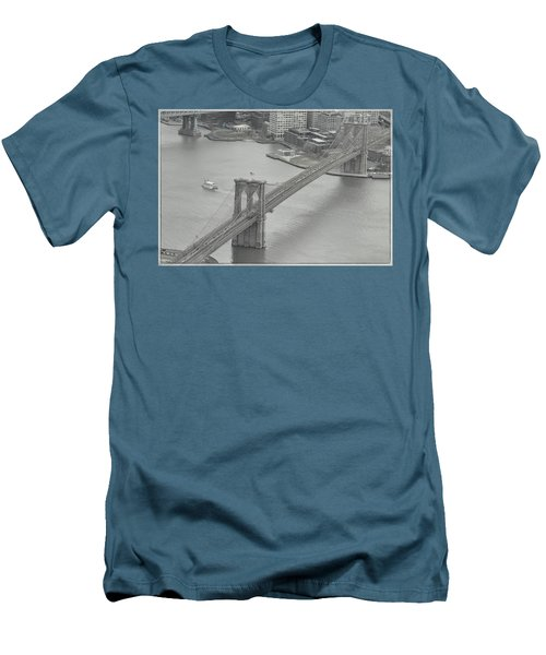 The Brooklyn Bridge From Above Men's T-Shirt (Slim Fit) by Dyle Warren