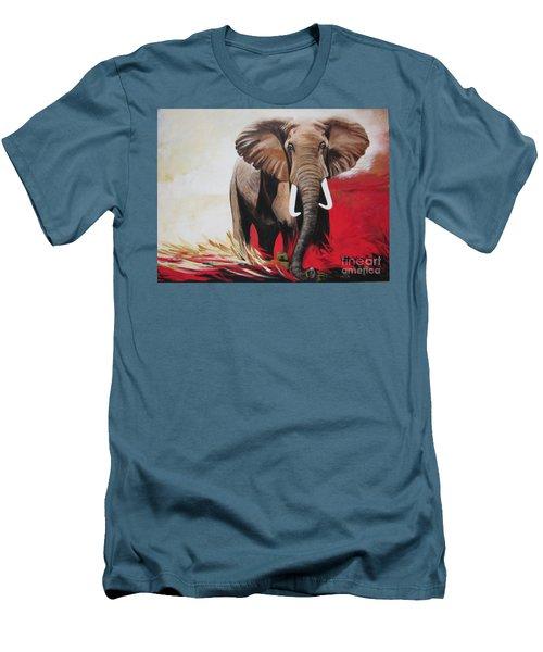 Bumper The  Bull Elephant  Men's T-Shirt (Athletic Fit)