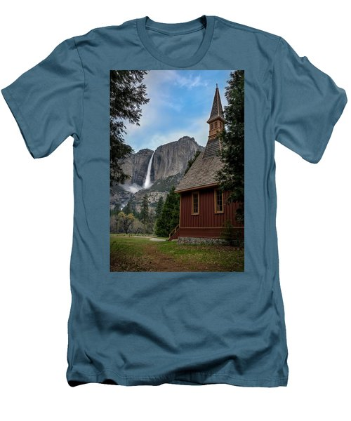 The Chapel Men's T-Shirt (Slim Fit) by Sean Foster