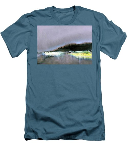 Men's T-Shirt (Slim Fit) featuring the painting The City Lights by Ed Heaton