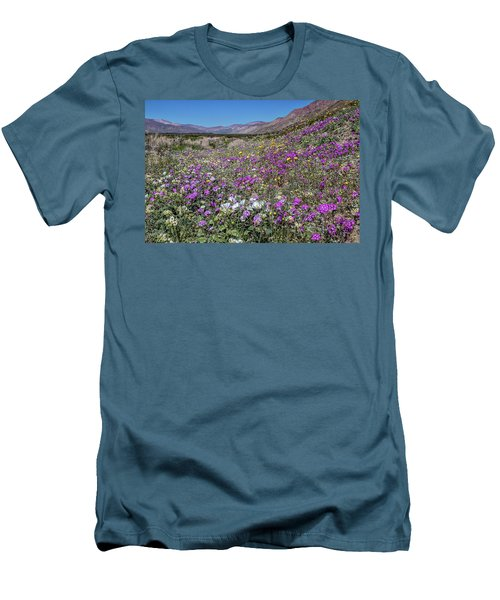 Men's T-Shirt (Slim Fit) featuring the photograph The Colors Of Spring Super Bloom 2017 by Peter Tellone