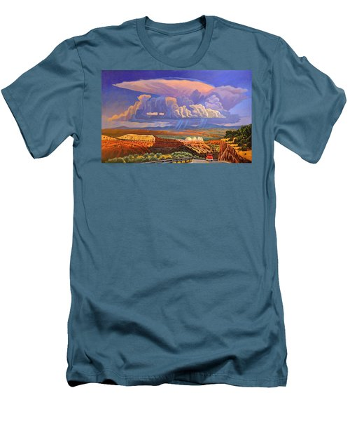 Men's T-Shirt (Slim Fit) featuring the painting The Commute by Art West