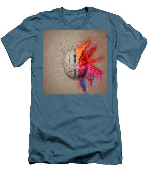The Creative Brain Men's T-Shirt (Slim Fit) by Johan Swanepoel