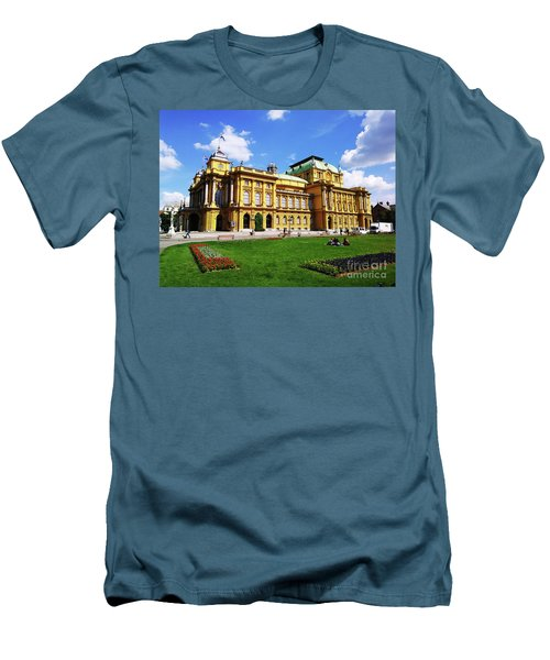 The Croatian National Theater In Zagreb, Croatia Men's T-Shirt (Slim Fit) by Jasna Dragun