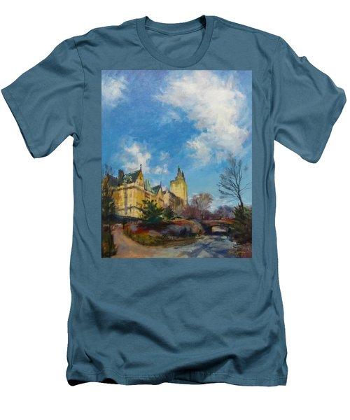The Bridle Path, Central Park Men's T-Shirt (Athletic Fit)