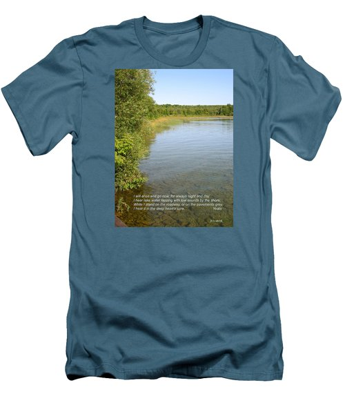 The Deep Heart's Core Men's T-Shirt (Slim Fit) by Deborah Dendler