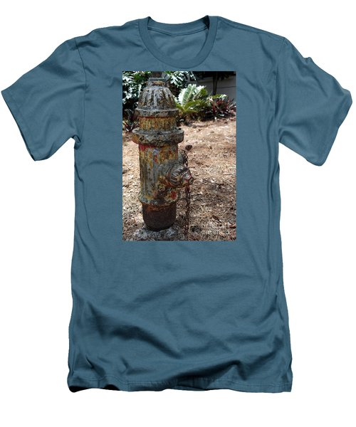 Men's T-Shirt (Slim Fit) featuring the photograph The Doggy Did It by Irma BACKELANT GALLERIES