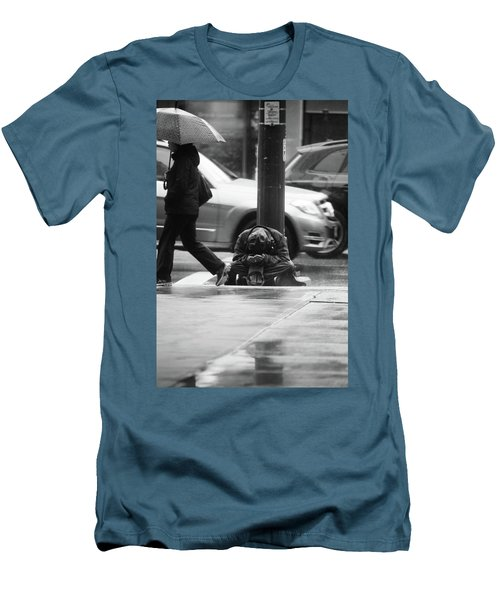 Men's T-Shirt (Slim Fit) featuring the photograph The Dry People by Empty Wall