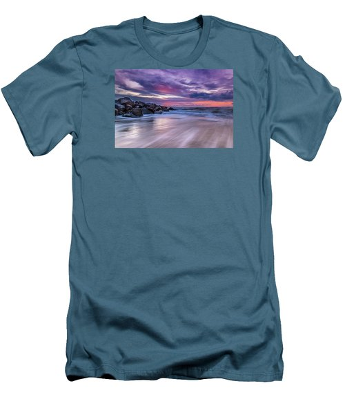 The Edge - Folly Beach, Sc Men's T-Shirt (Athletic Fit)