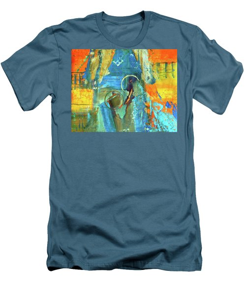 Men's T-Shirt (Slim Fit) featuring the painting The End Game by Everette McMahan jr