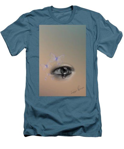 The Eyes Don't Lie Men's T-Shirt (Slim Fit) by Vennie Kocsis
