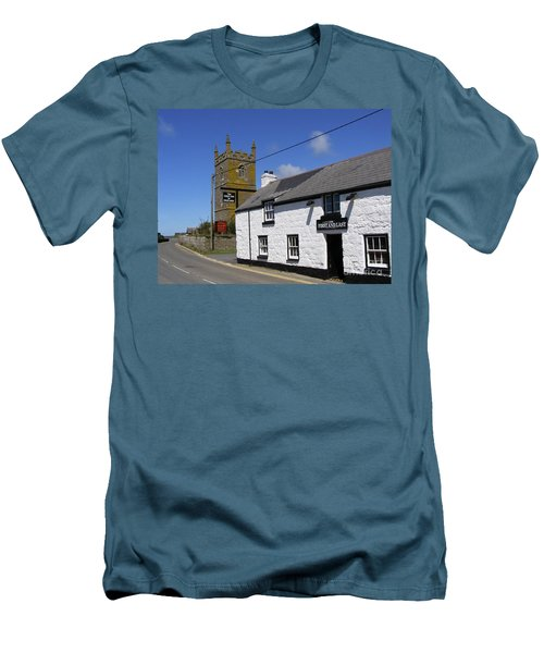 Men's T-Shirt (Slim Fit) featuring the photograph The First And Last Inn In England by Terri Waters