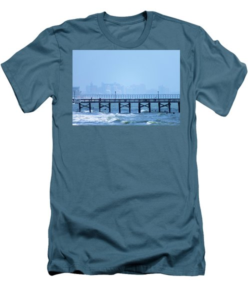 Men's T-Shirt (Slim Fit) featuring the photograph The Fog And Swirling Waters by Cathy Harper