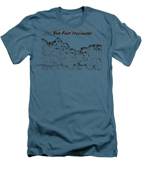 The Four Presidents 2 Men's T-Shirt (Athletic Fit)