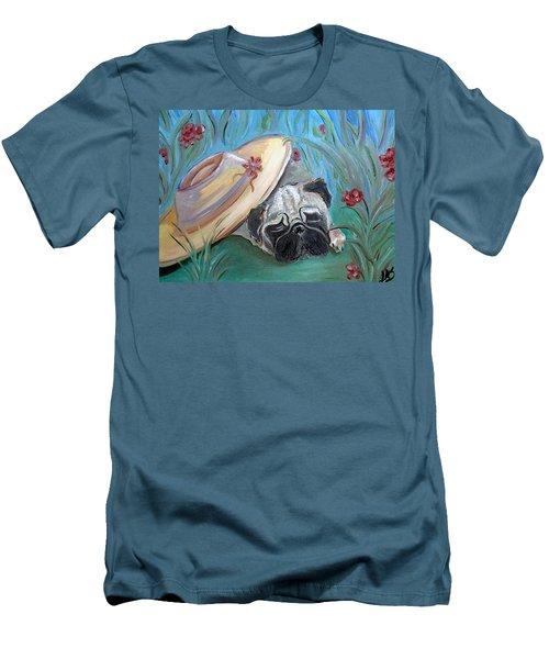 The Garden Pug Men's T-Shirt (Athletic Fit)