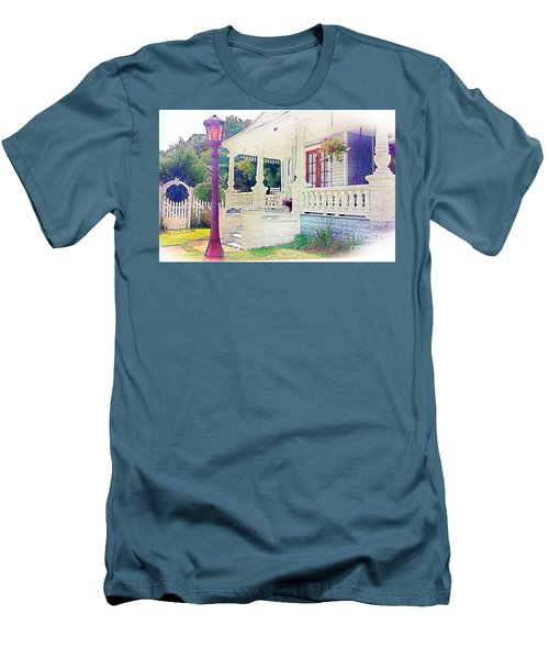 The Gate Porch And The Lamp Post Men's T-Shirt (Athletic Fit)