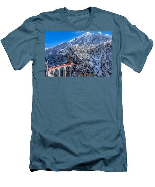 The Glacier Express Men's T-Shirt (Athletic Fit)