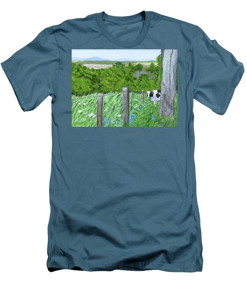 'the Grass Sings In The Meadow' Men's T-Shirt (Athletic Fit)