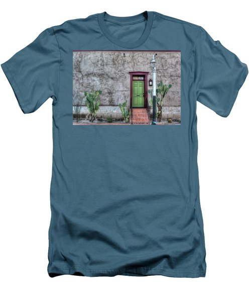 Men's T-Shirt (Slim Fit) featuring the photograph The Green Door by Lynn Geoffroy