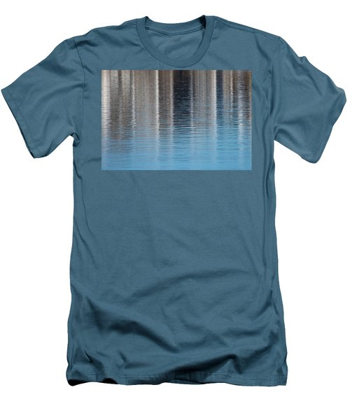 Men's T-Shirt (Slim Fit) featuring the photograph The Harbor Reflects by Karol Livote