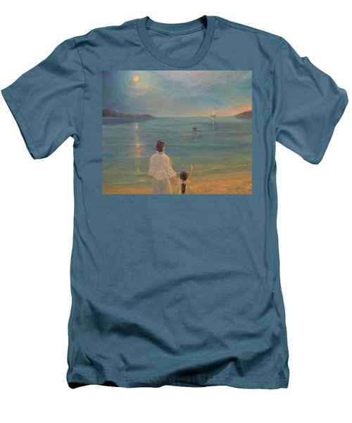 Men's T-Shirt (Slim Fit) featuring the painting The Homecoming by Donna Tucker
