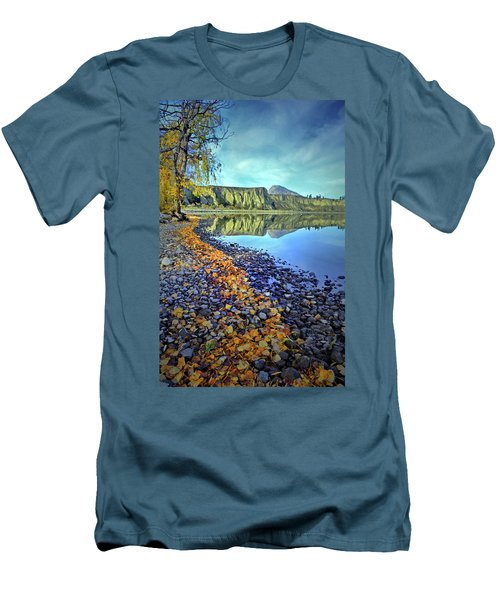 Men's T-Shirt (Slim Fit) featuring the photograph The Hoodoos And Highway 97 by Tara Turner