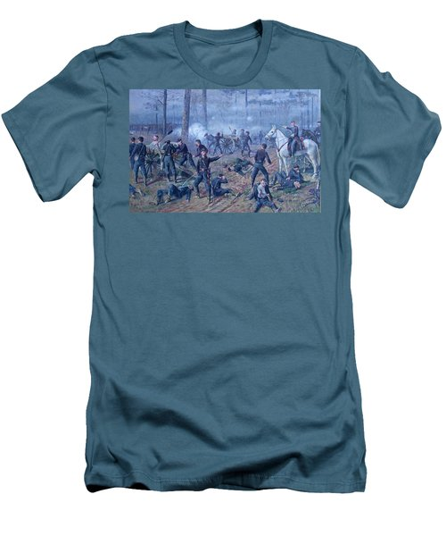 Men's T-Shirt (Slim Fit) featuring the painting The Hornets' Nest by Thomas Corwin Lindsay