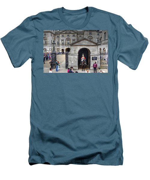 The Horse Guard At Whitehall Men's T-Shirt (Slim Fit) by Karen McKenzie McAdoo