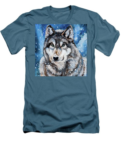 Men's T-Shirt (Slim Fit) featuring the painting The Hunter by Igor Postash