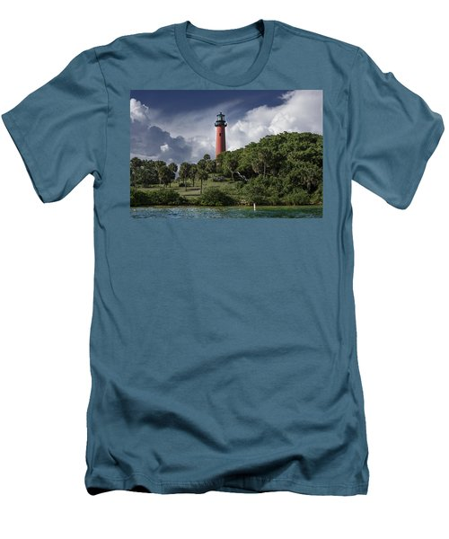 The Jupiter Inlet Lighthouse Men's T-Shirt (Athletic Fit)