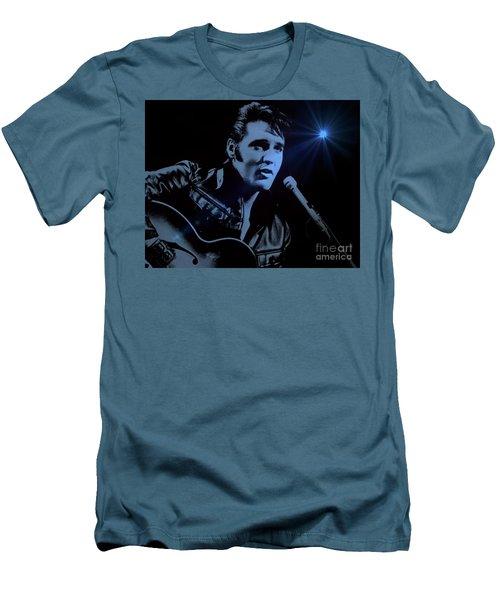 The King Rocks On Men's T-Shirt (Slim Fit) by Al Bourassa