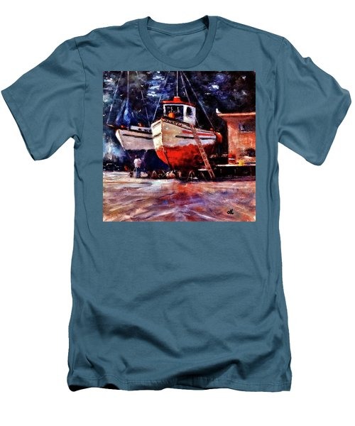 The Last Repairs.. Men's T-Shirt (Slim Fit) by Cristina Mihailescu