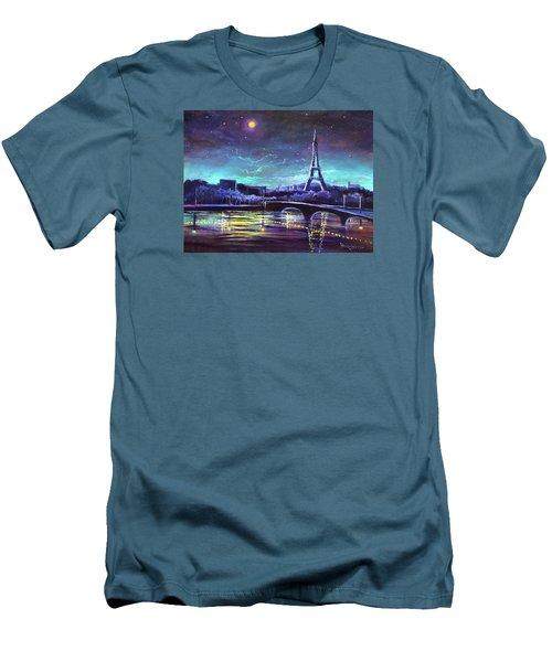 The Lights Of Paris Men's T-Shirt (Slim Fit) by Randy Burns