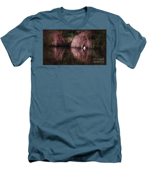 The Little White Duck Men's T-Shirt (Slim Fit) by Isabella F Abbie Shores FRSA