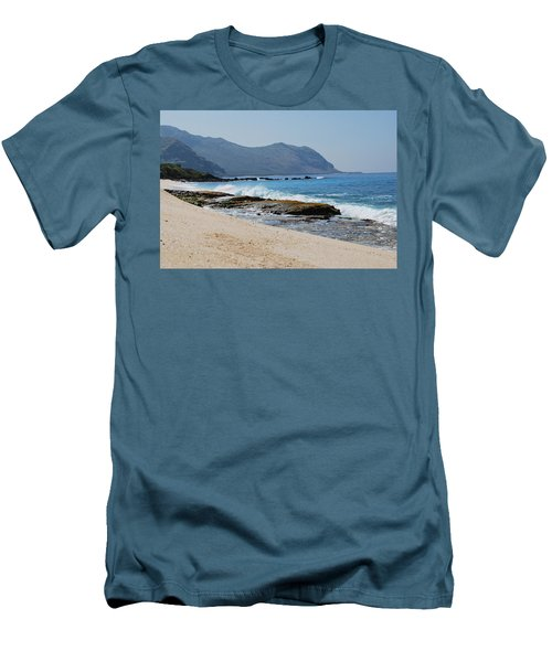 Men's T-Shirt (Athletic Fit) featuring the photograph The Local's Beach by Amee Cave