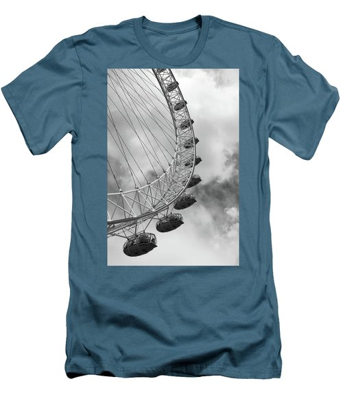 Men's T-Shirt (Slim Fit) featuring the photograph The London Eye, London, England by Richard Goodrich