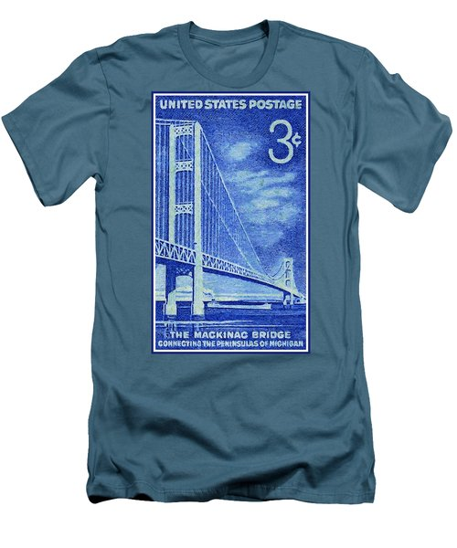 The Mackinac Bridge Stamp Men's T-Shirt (Athletic Fit)