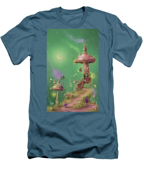 The Mushroom Gatherer Men's T-Shirt (Athletic Fit)