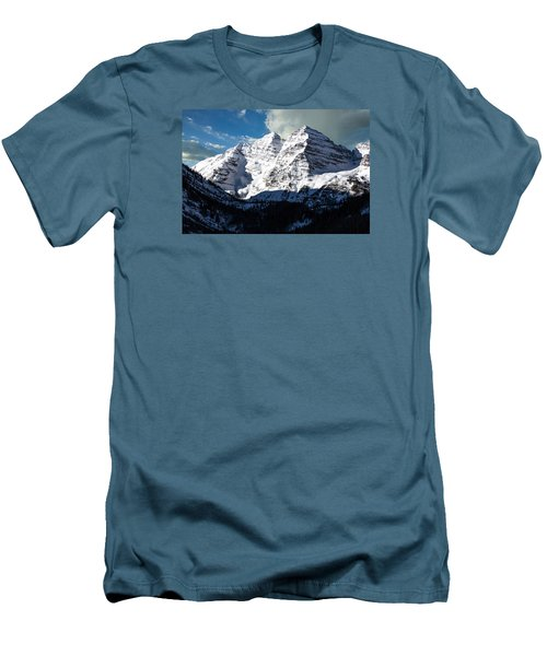 These Twin Peaks Outside Aspen Are Called The Maroon Bells  Men's T-Shirt (Slim Fit) by Carol M Highsmith