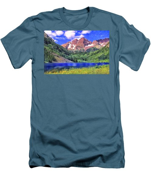 The Maroon Bells Men's T-Shirt (Athletic Fit)