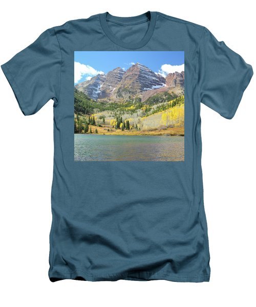 The Maroon Bells 2 Men's T-Shirt (Slim Fit) by Eric Glaser