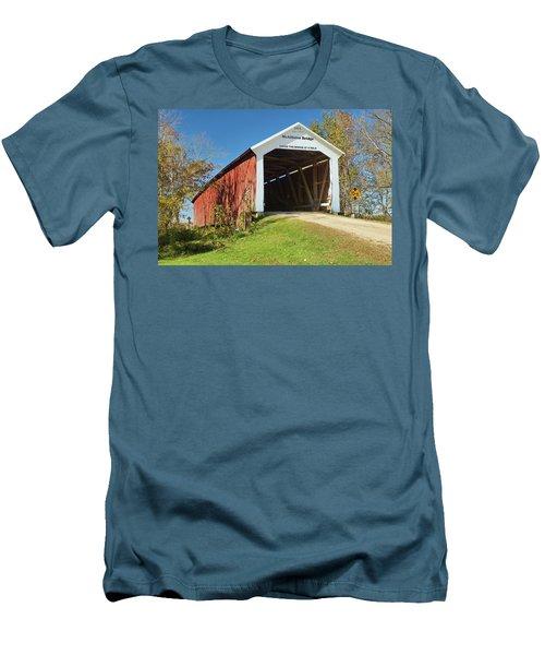 The Mcallister Covered Bridge Men's T-Shirt (Slim Fit) by Harold Rau