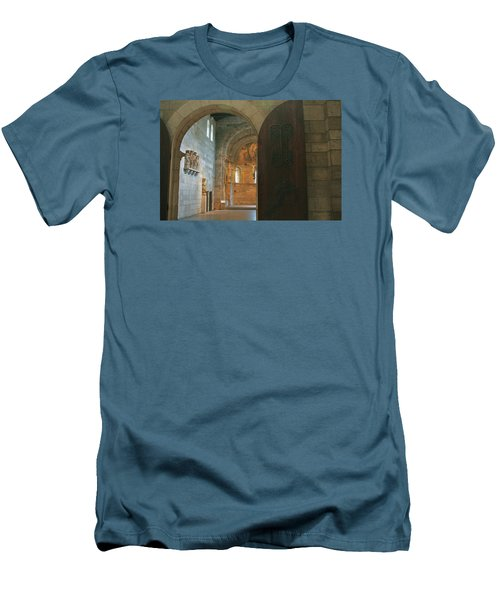 An Early Morning At The Medieval Abbey Men's T-Shirt (Athletic Fit)