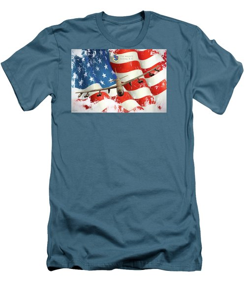 The Mighty B-52 Men's T-Shirt (Slim Fit) by Peter Chilelli
