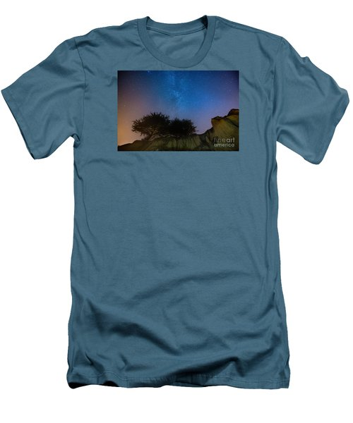 The Milky Way Above Shell Beach Men's T-Shirt (Athletic Fit)