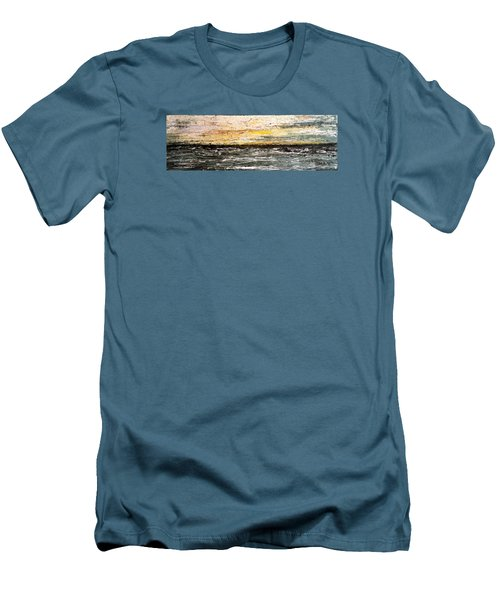 Men's T-Shirt (Slim Fit) featuring the painting The Moment 3 by Shabnam Nassir