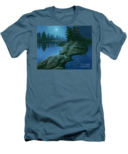 The Moonlight Hour Men's T-Shirt (Slim Fit) by Michael Swanson